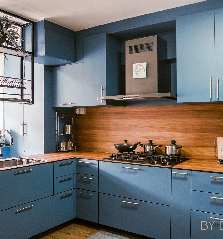 328 Woodlands - Modern Scandinavian kitchen - Blue Kitchen